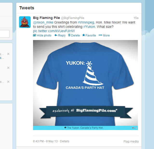 A tweet to the Yukon…